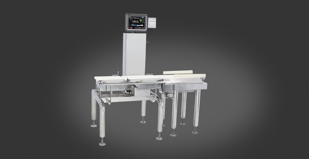Checkweigher solution to control each package on weight and quality.
